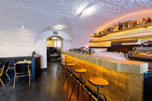 Comida orgánica, bebidas frías y café en el Cafè Erich de Viena.