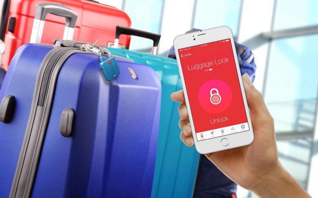Utilizando su móvil, puede abrir el candado sin ninguna llave física.