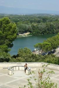 El Jardin des Doms está en un cerro sobre el Ródano.
