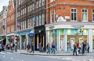 King's Road es una de las calles principales de la zona oeste de Londres.