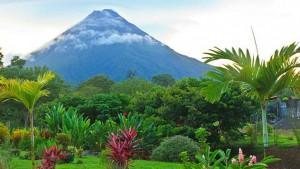 Uno de los volcanes de Costa Rica.