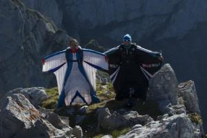 Armando y Darío Barrio antes de saltar. Foto: @Darío Rodríguez - DESNIVEL.