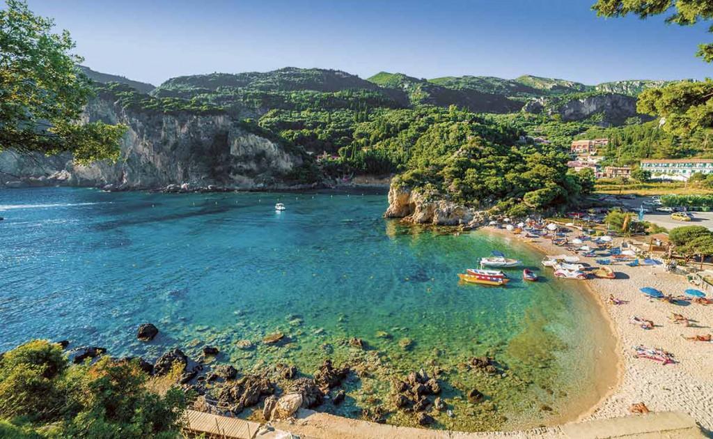 El paraje de Palaiokastritsa en la isla griega de Curfú. Uno de sus lugares fetiche.