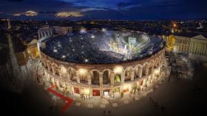 En el anfiteatro de Verona se realiza cada año el Festival de Ópera de la ciudad.