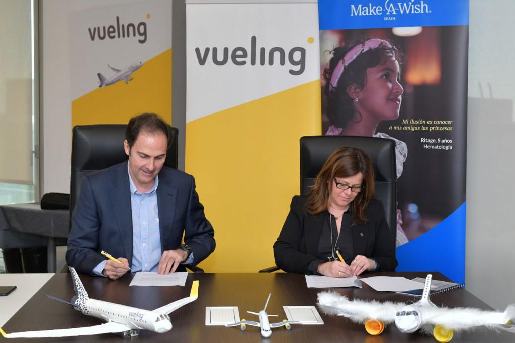 Vueling y Make-A-Wish Spain colaboracion