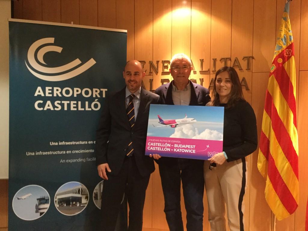 Wizz Air anuncia dos nuevas rutas desde Castellón.