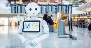 Josie Pepper, el robot asistente del aeropuerto de Múnich cuenta con inteligencia artificial.