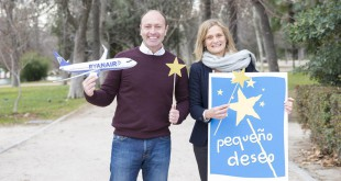 Kenny Jacobs, Chief Marketing Officer de Ryanair, con Cristina Cuadrado, Directora de Pequeño Deseo.