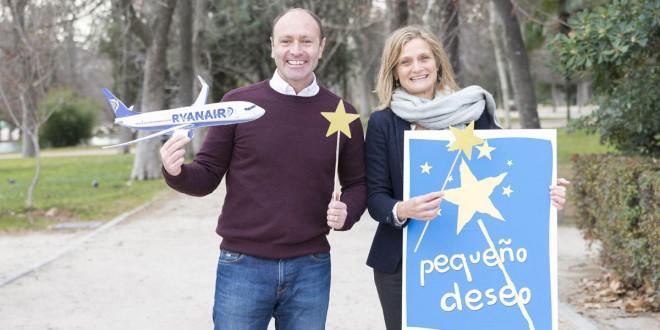 Kenny Jacobs, Chief Marketing Officer de Ryanair, con Cristina Cuadrado, Directora de Pequeño Deseo.