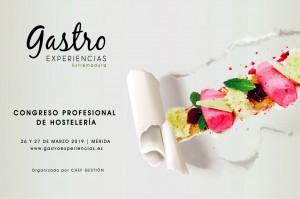 Cartel congreso Gastro Experiencias Extremadura.