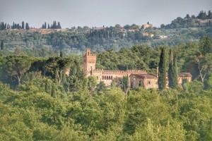 Castello nel Chianti en la Toscana, Italia.