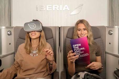 Las gafas de realidad virtual de Iberia.