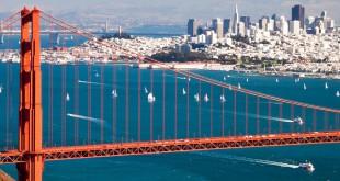 La Bahía de San Francisco y su famoso puente.
