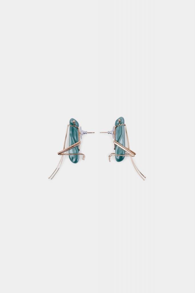 La pieza favorita de Andrés es la de los Grasshopper Earrings, unos pendientes presentes en las últimas colecciones que representan a dos saltamontes.