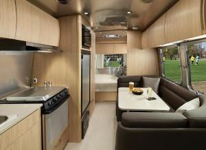 Uno de los diseños interiores de las caravanas.