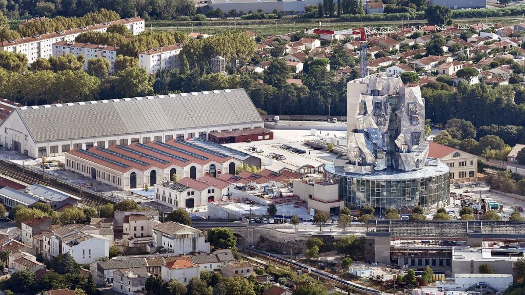 Skyline del complejo Parc des Ateliers. Foto:  Hervé Hôte