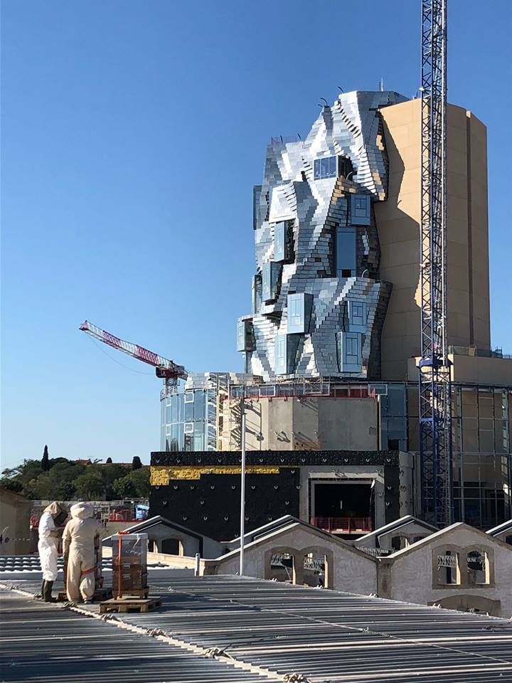 La llamativa torre del arquitecto canadiense reconocido por las peculiares formas de sus edificios.
