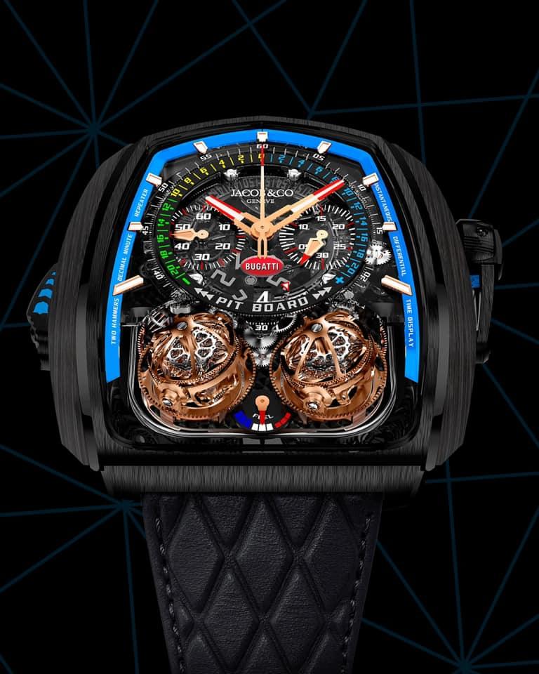 El universo extravagante y complicado de la relojera queda patente en este modelo.