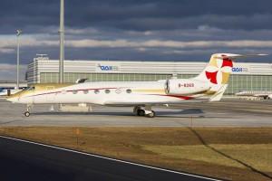 Un Gulfstream G550 en el Centro de Aviación General del aeropuerto. Foto: Vienna Airport