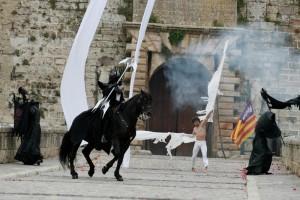 Juegos medievales a caballo.