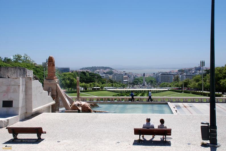 Mirador del Parque Eduardo VII, en Lisboa. Foto: objetivoviajar.com