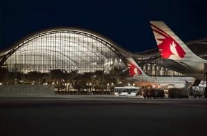 Aviones de Qayar Airways en su hub, el aeropuerto internacional Hamad de Doha.