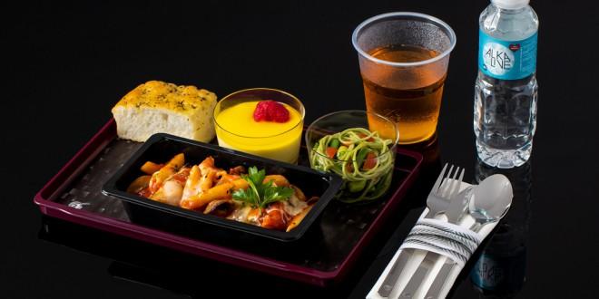 menú raciones en Turista Qatar Airways