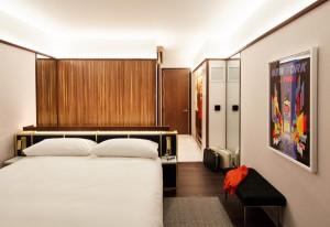 """La decoración """"años 60"""" marca todas las instalaciones del TWA Hotel. Foto: David Mitchell"""