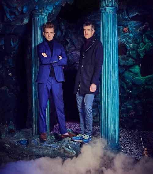 El dúo de diseñadores y consultores creativos, Sam Bompas y Harry Parr. Foto: Charlie Surbey