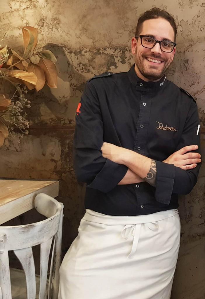 El joven cocinero Fran González capitanea Jatetxea.