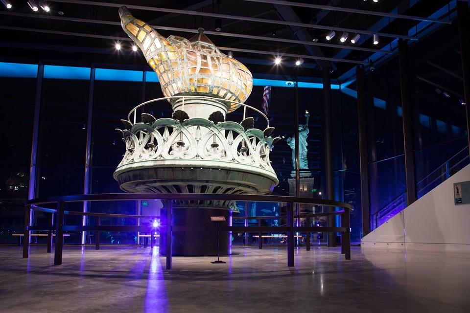 La pieza más importante del nuevo museo de la Estatua de la Libertad: la antorcha original.