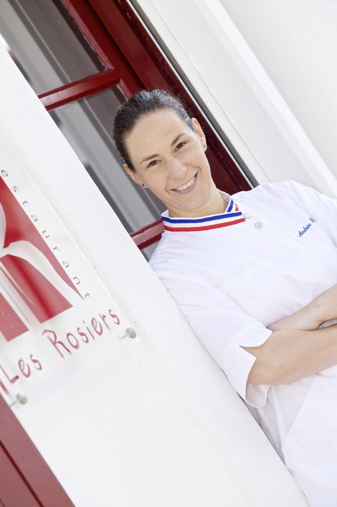 La chef Andrée Rosier  del restaurante Les Rosiers en Biarritz, ostenta Meilleur Ouvrier de France y una estrella Michelin.