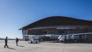 La parte del edificio destanada al hangar para la flota espacial.