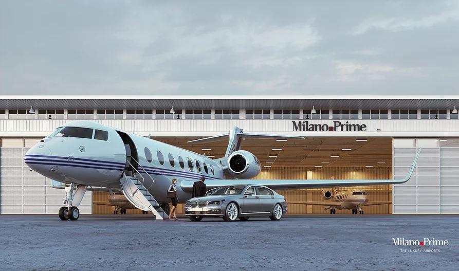 Terminal de aviación ejecutiva en el Aeropuerto Internacional de Malpensa.