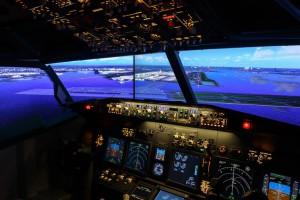 simulador de vuelo en hotel de Tokio