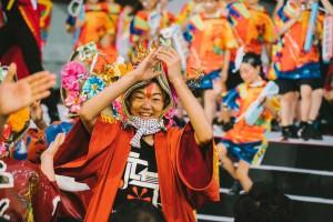 En el desfile de Kansai Yamamoto