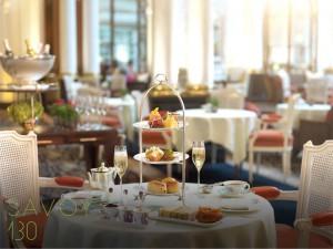 El tradicional té de las cinco inglés en The Savoy.