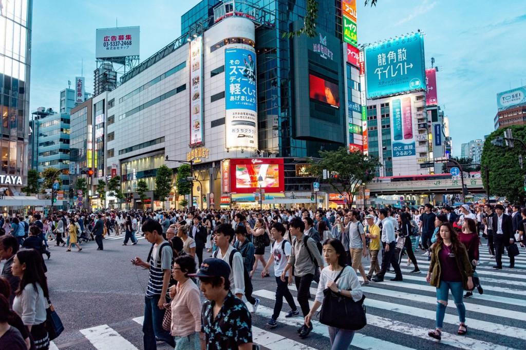 Cruce de Shibuya, conocido en el mundo entero.