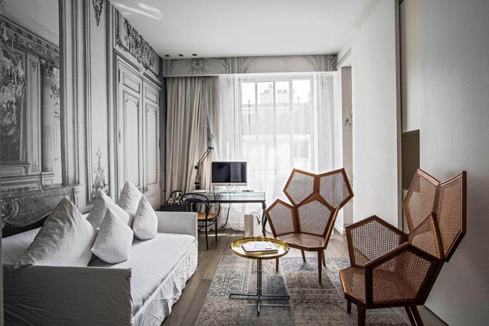Habitación del hotel La Maison champs Elysées en París.