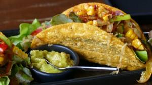 Típicos tacos mejicanos.