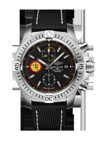 El reloj está impulsado por un calibre 13 de Breitling y movimiento de cronómetro con aproximadamente 48 horas de reserva de marcha.