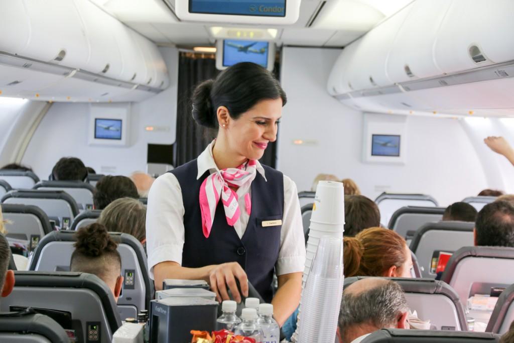 Christine Berger-Danzinger, sobrecargo y project manager de FlyPink en Condor.