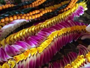 Collares de flores hawaianos.