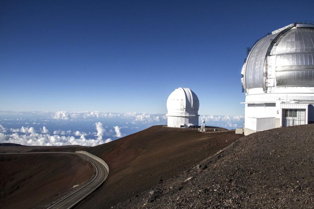 Observatorios en la cima del monte Mauna Kea.