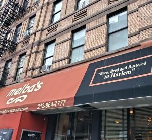 """Melba's: """"Nacido, criado y untado con mantequilla en Harlem"""", proclama su eslogan."""