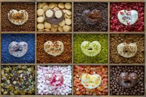 Uno de los productos más icónicos del pastelero Alejandro Montes, las palmeras, ahora en formato mini y versionadas en 12 distintos sabores.