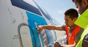 productos de diseño reciclados de Lufthansa A340-600