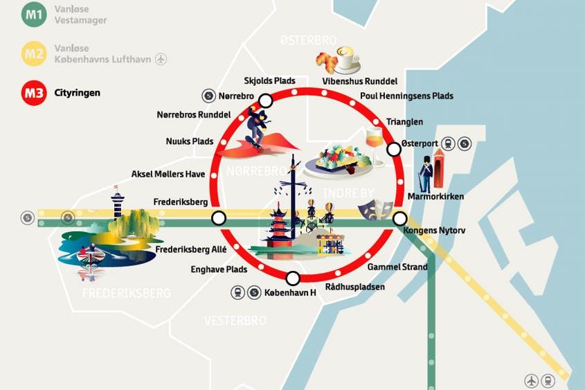 Línea M3 o City Circle Line.