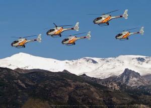 Los cinco Eurocopter EC-120 'Colibrí' del EA.