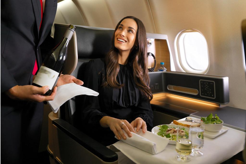 A bordo de Qantas.